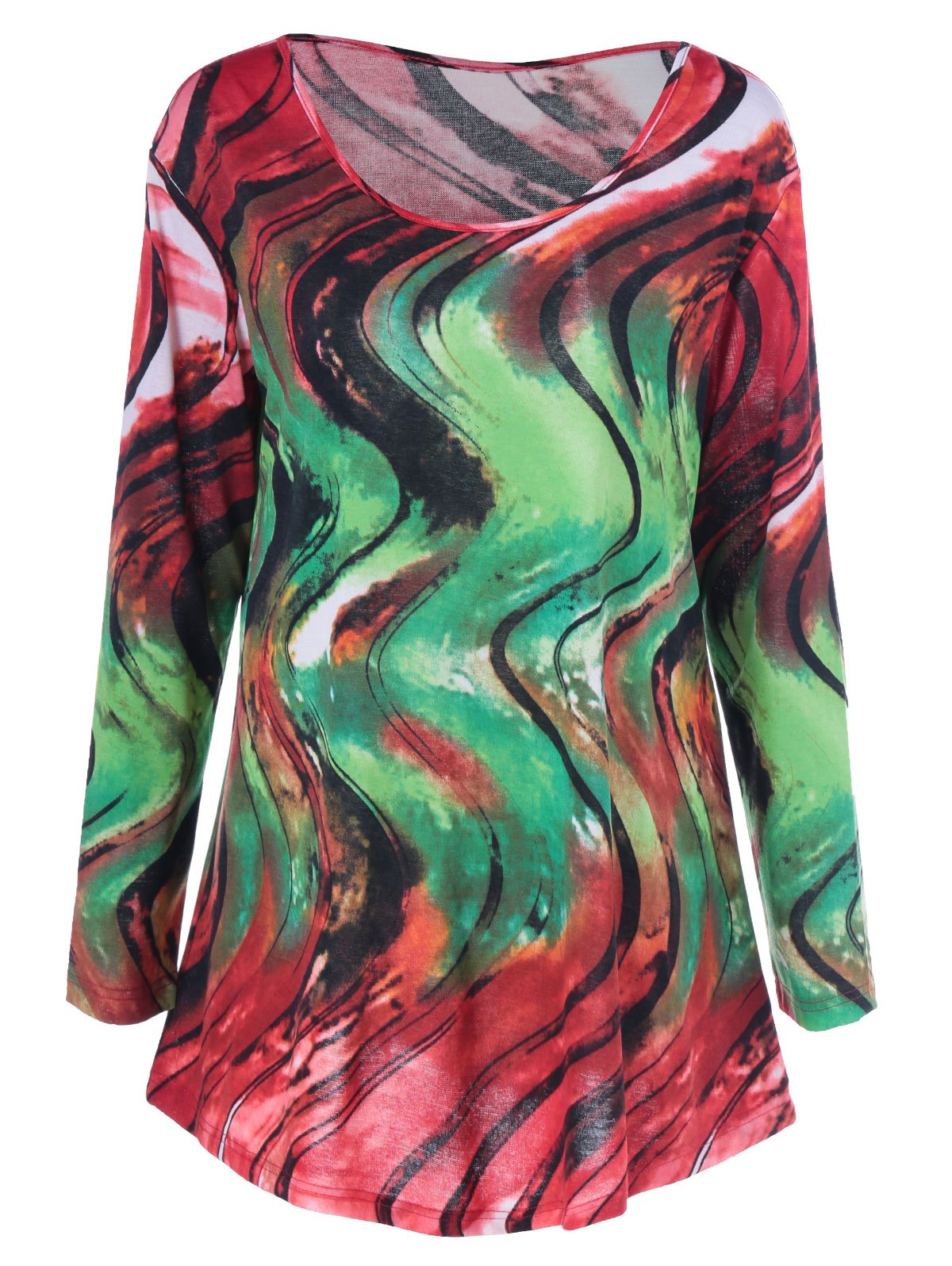 Colorful Abstract Print Tee