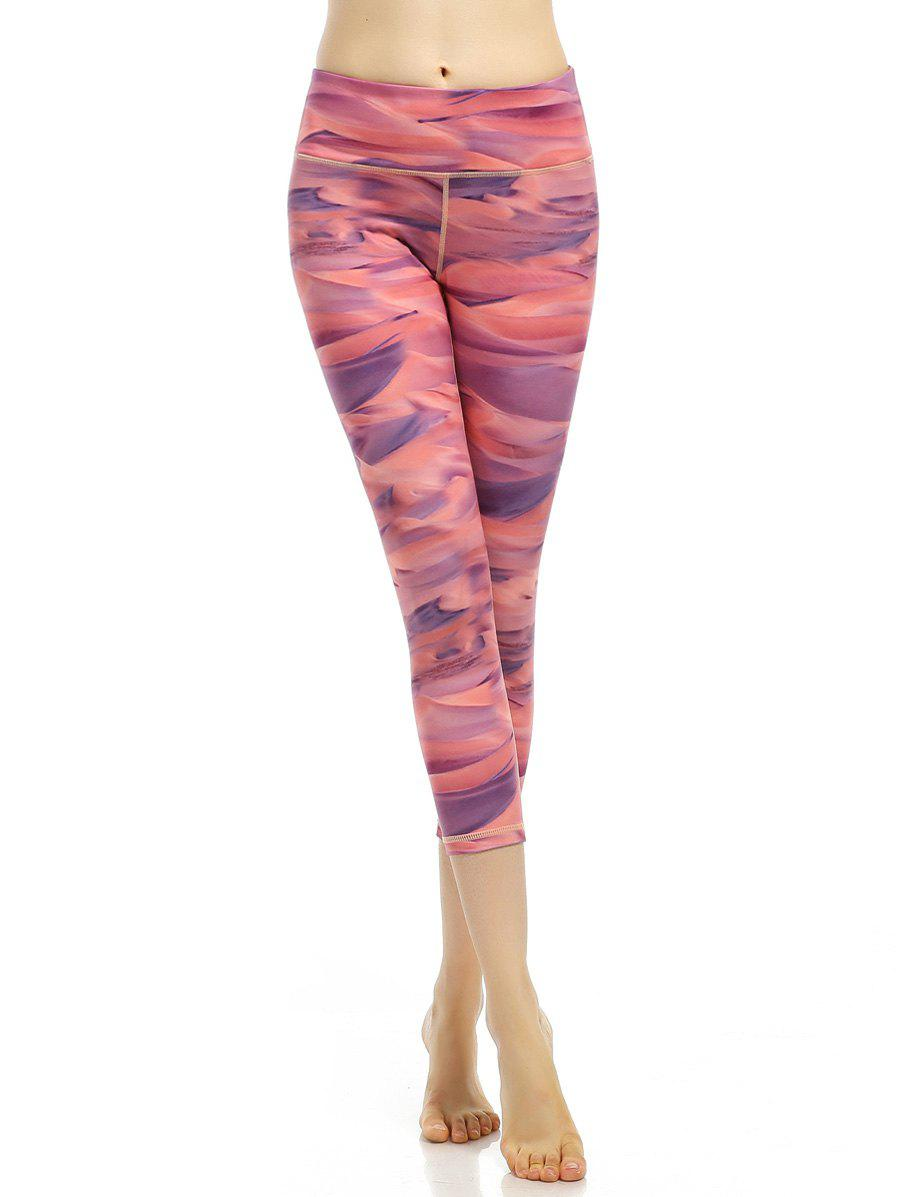 Abstract Print Stretchy Cropped Leggings
