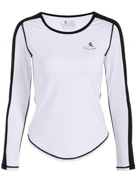 Fit Neon Color  Pullover T-Shirt - WHITE M
