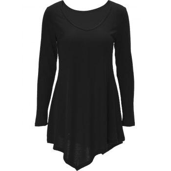 Long Sleeve Asymmetric Tee Dress