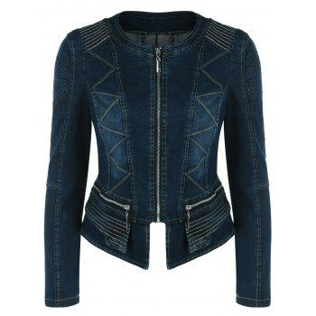 Ziazag Slimming Denim Jacket