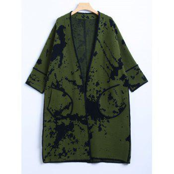 Chinese Painting Woolen Cardigan