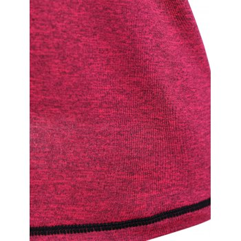 Heather Pullover Gym T-Shirt - ROSE RED S