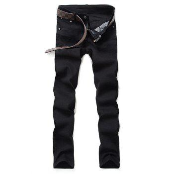 Mid-Waisted Zipper Fly Skinny Jeans