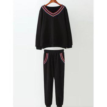 Varsity Striped Fleece Gym Outfits