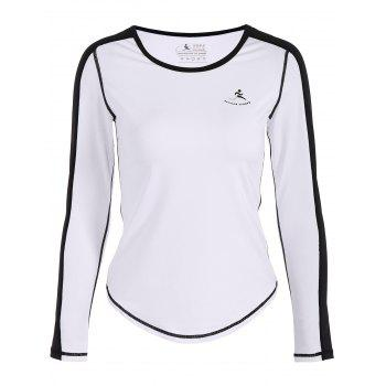 Fit Neon Color  Pullover T-Shirt - WHITE WHITE