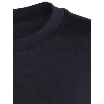 Fit Long Sleeve Gym T-Shirt - BLACK BLACK