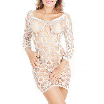 Crochet See Through Lace Tight Dress