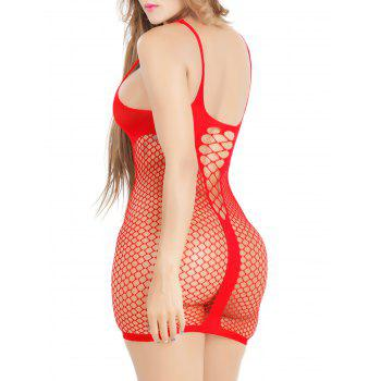 Résille See Through Dress - Rouge ONE SIZE