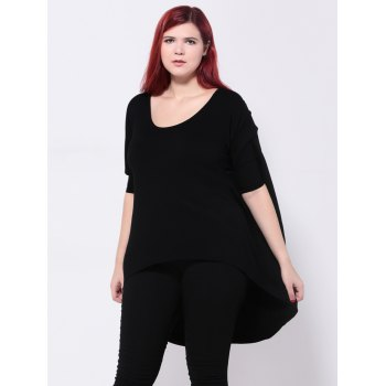 Asymmetric Batwing Sleeves T-Shirt