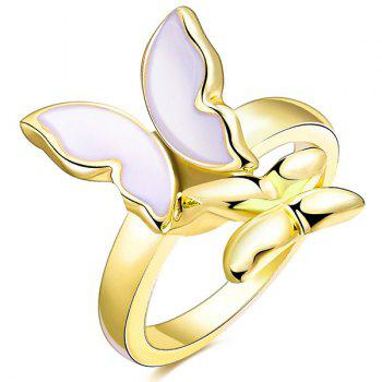 Polished Resin Butterfly Ring