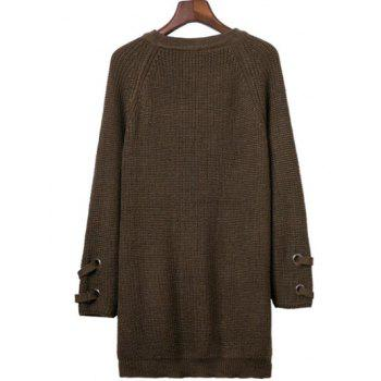 Batwing Sweater with Criss Cross Bandage - ARMY GREEN ONE SIZE