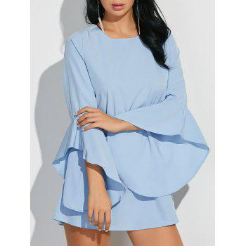 Flare Sleeves Ruffled Blouse