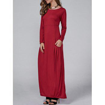 High Waist Maxi Dress with Pockets