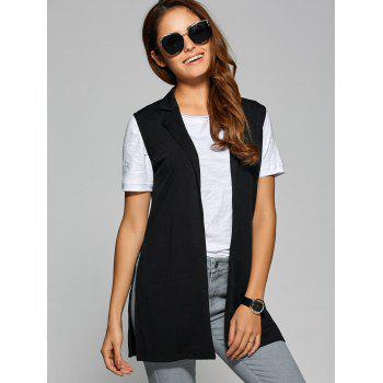 Side Slit Lapel Collar Vest