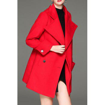 Turn Down Collar Double Breasted Coat