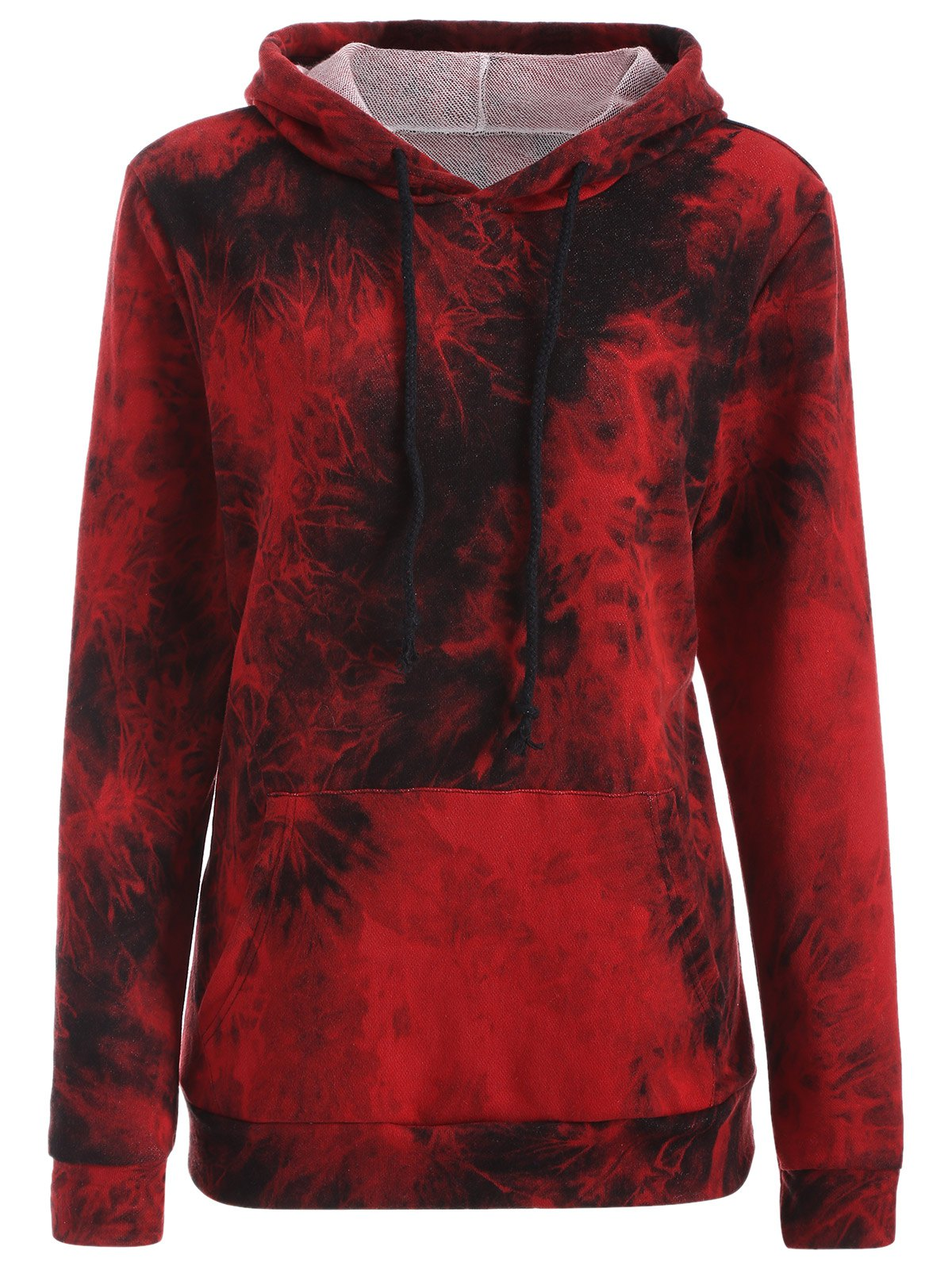 Buy Fit Tie Dye Hoodie DEEP RED