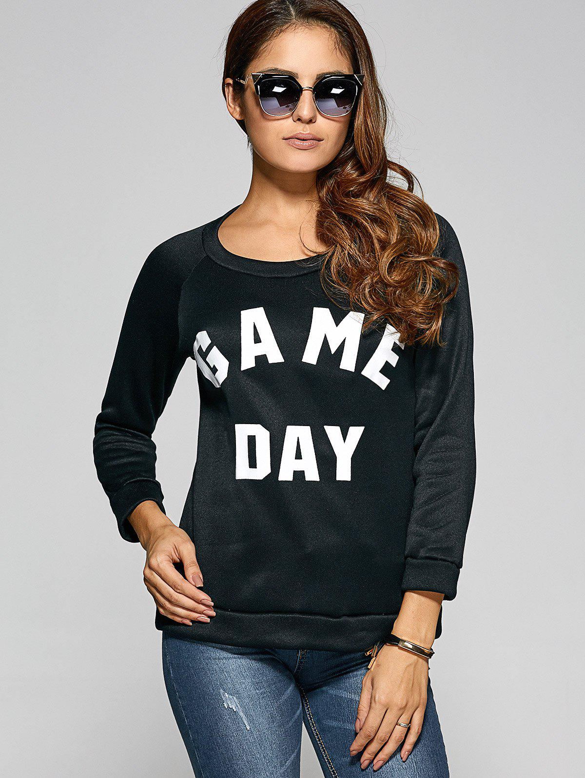 Game Day Print Pullover Sweatshirt r12 sexy game