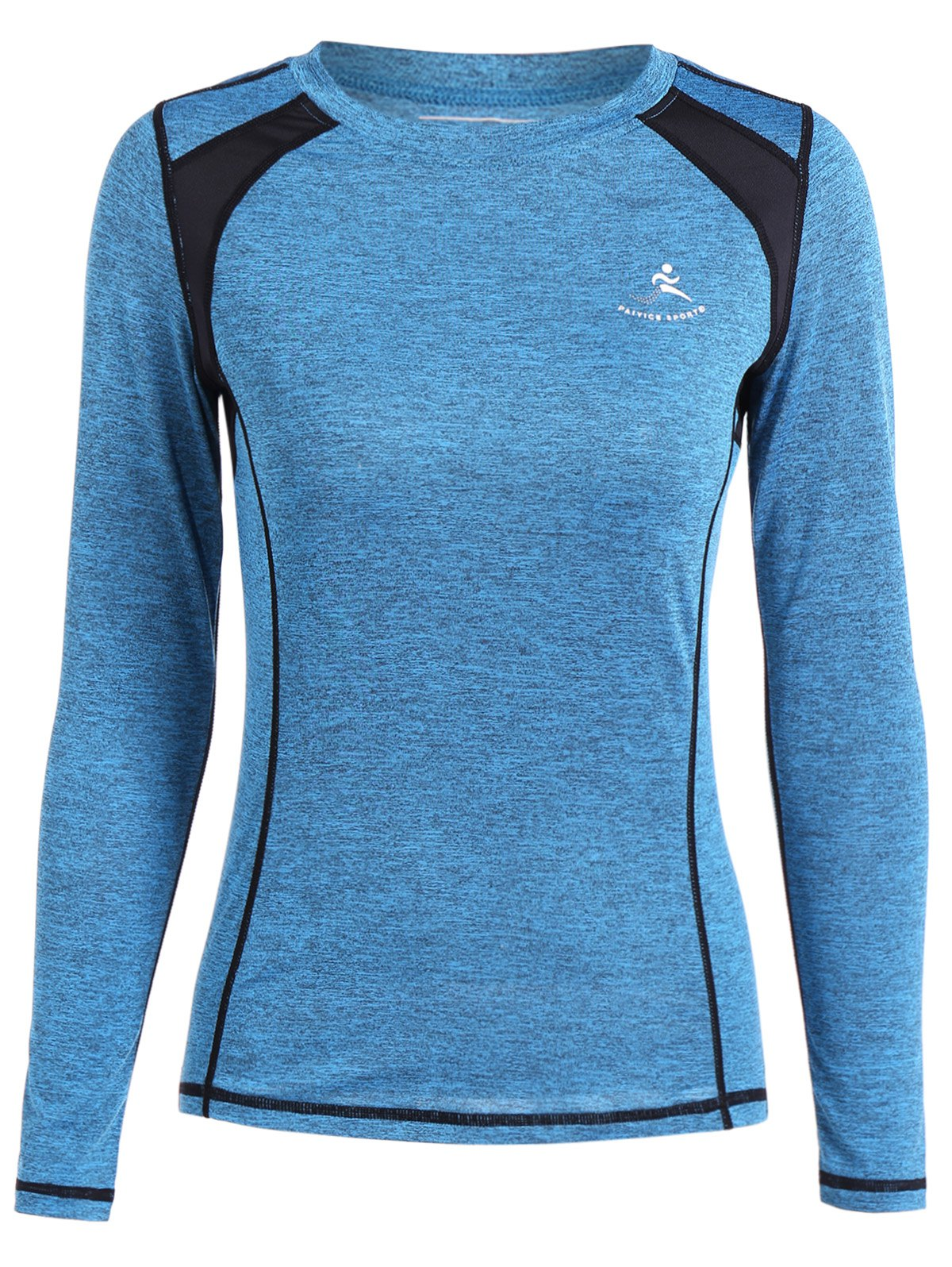 Respirant Heather Pullover T-Shirt - Azur L