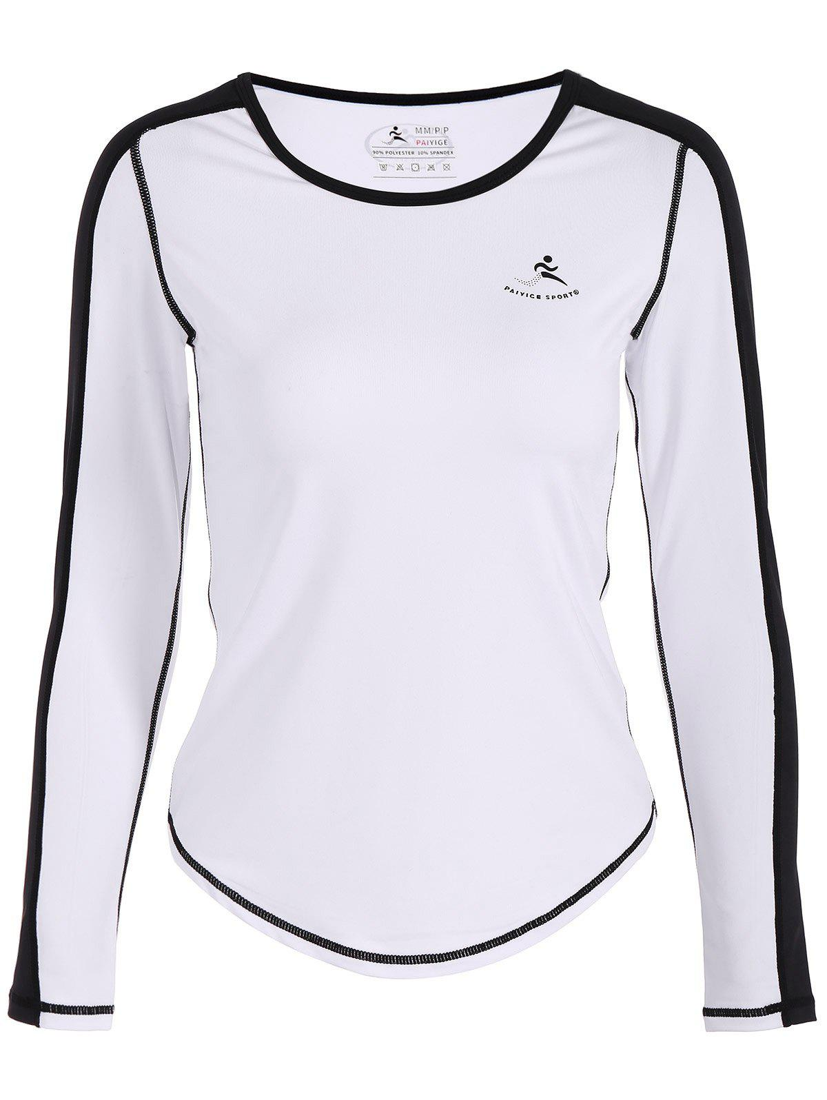 Fit Neon Couleur Pullover T-Shirt - Blanc M