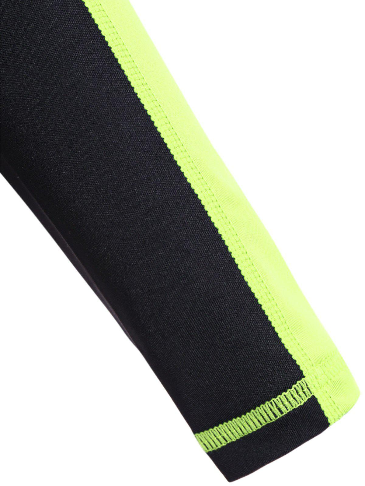 Fit Neon Color  Pullover T-Shirt - NEON GREEN L