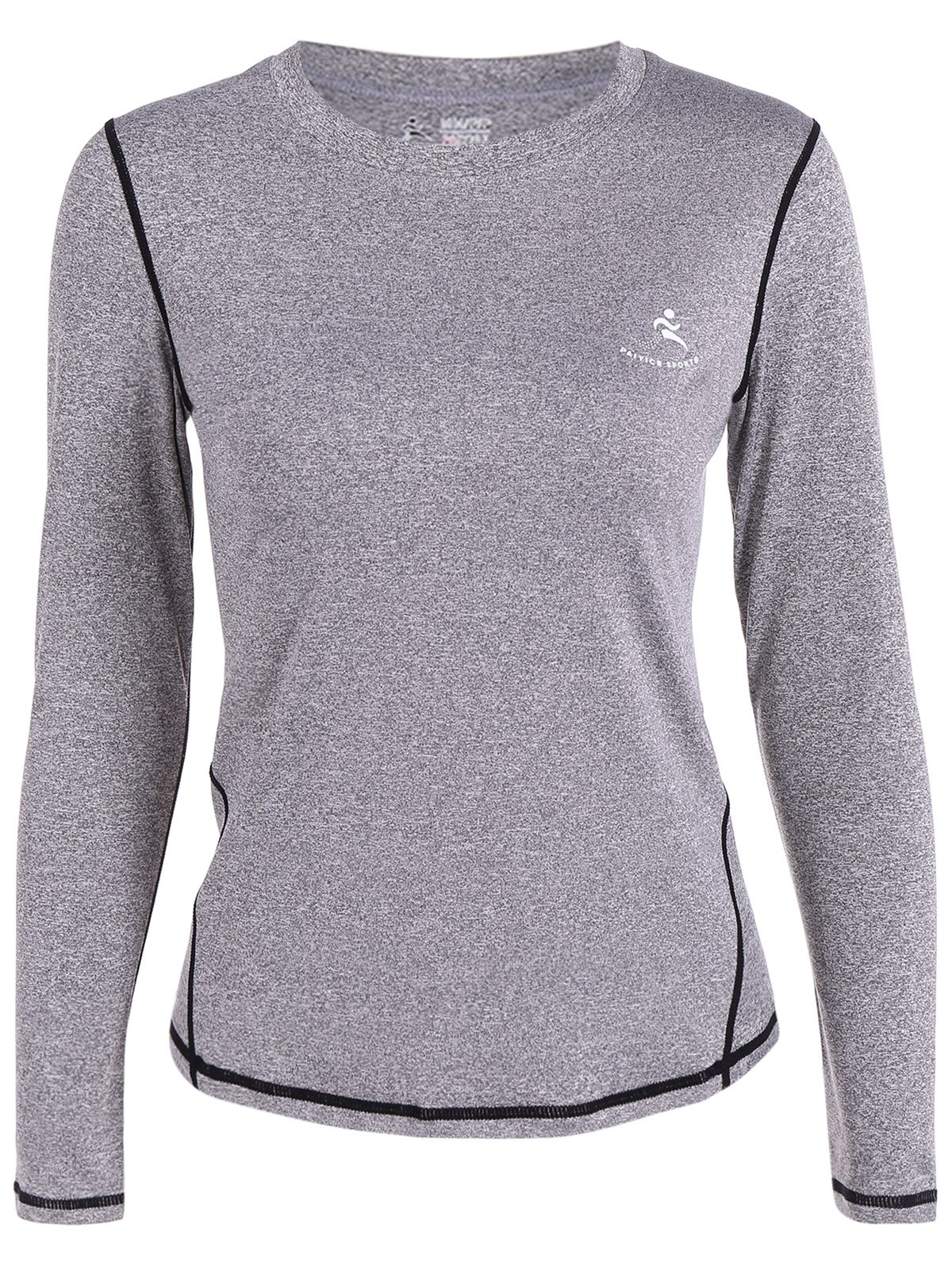 Fit Long Sleeve Gym T-Shirt - GRAY XL