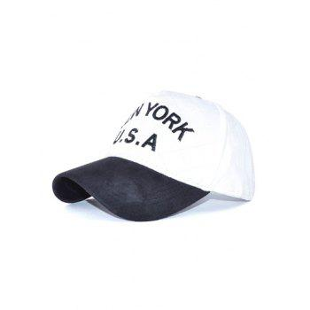 New York Letter Embroidery Woolen Baseball Hat