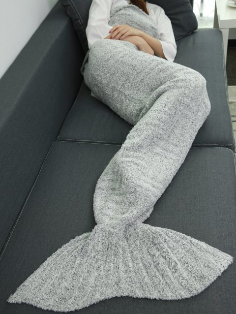 Soft Comfortable Sleeping Bag Sofa Wrap Mermaid Tail Blanket - GRAY
