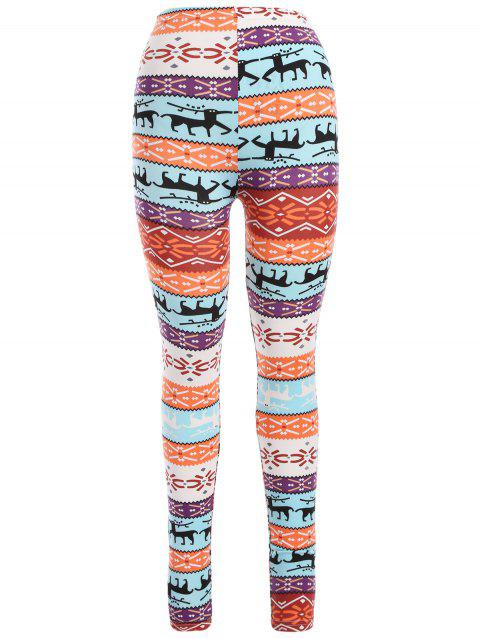 Leggings Imprimé Renne de Noël - Saumon ONE SIZE
