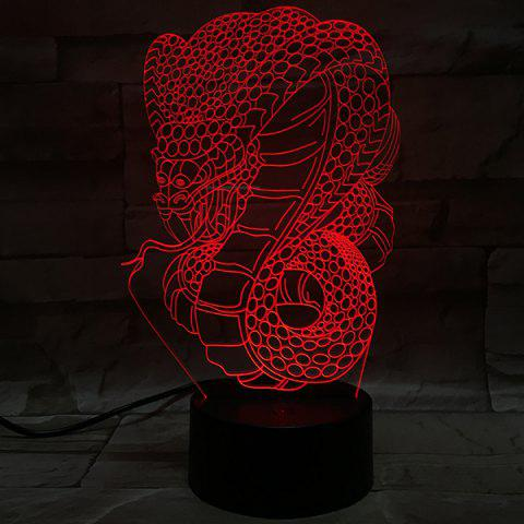 3D Visual 7Color Changing Snake Animal LED Decor Night Light - COLORFUL