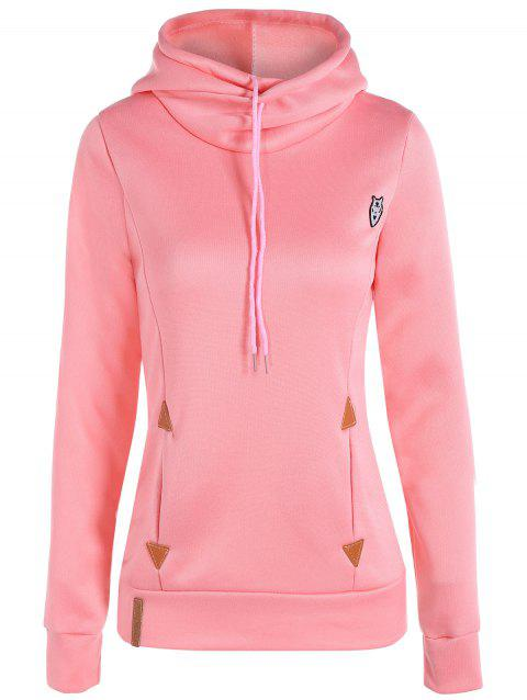 Hoodie Casual Patched - Rose L