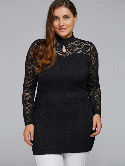41 Off 2018 Plus Size High Neck Lace Dress In Black 3xl