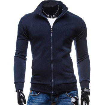 Stand Collar Fleece Zip-Up Jacket