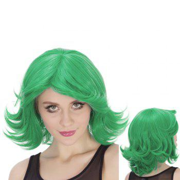 Side Parting Medium Fluffy Wavy Tail Upwards Synthetic Lolita Wig