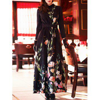 Maxi Embroidery Vintage Dress