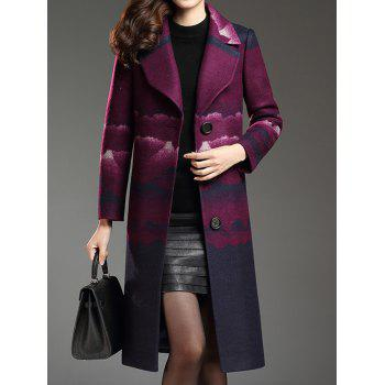 Notched Collar Woolen Coat
