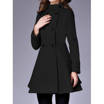 Double Breasted Fit and Flare Coat