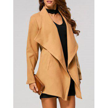 Pocket Design Belted Wrap Coat
