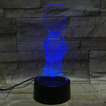 3D Visual Boy Character 7Color Changing LED Table Night Light - COLORFUL