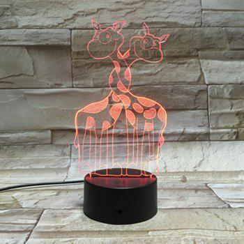 3D Visual Room Atmosphere Color Changing Giraffe LED Night Light