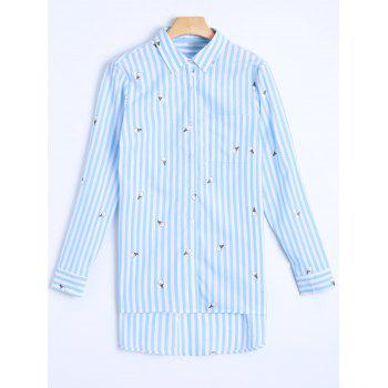 Striped Casual Boyfriend Shirt