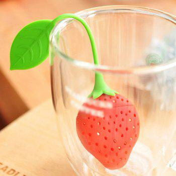 Fun Cartoon Cute Strawberry Food Grade Silicone Filter Diffuser Tea Strainer