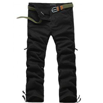 Splicing Pockets Straight Leg Zipper Fly Cargo Pants