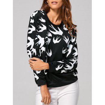 Swallow Print Sweatshirt
