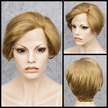 Mixed Color Short Straight Lace Front Synthetic Wig