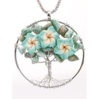 Handmade Floral Tree Pendant Necklace