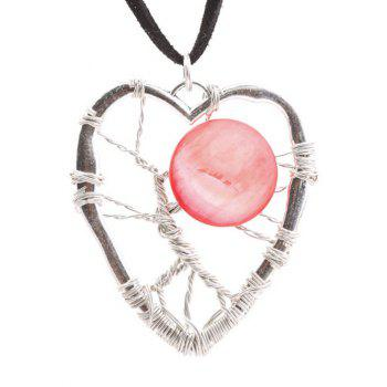 Buy Hollow Handmade Heart Pendant Necklace RED