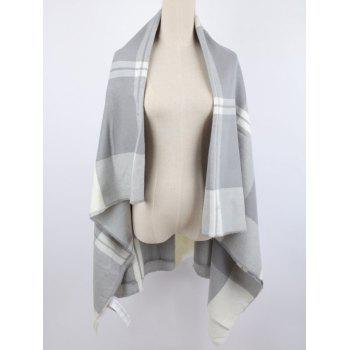 Elegant Warm Plaid Print Shawl Blanket Scarf