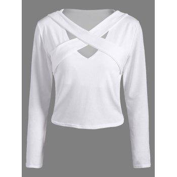 Front Criss-Cross Cutout Cropped T-Shirt