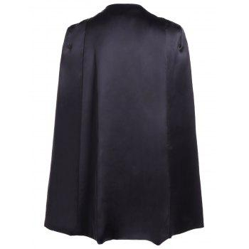 Formal Collarless Jacket Cape Blazer - S S